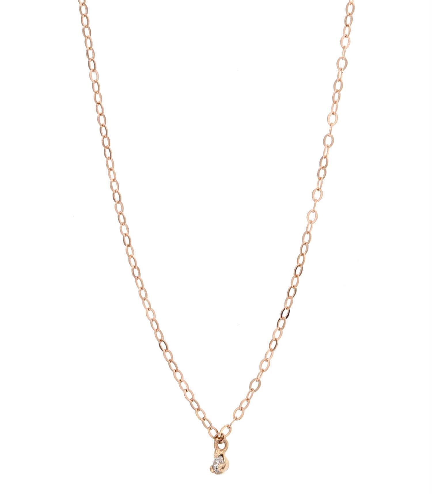 collier or rose diamant