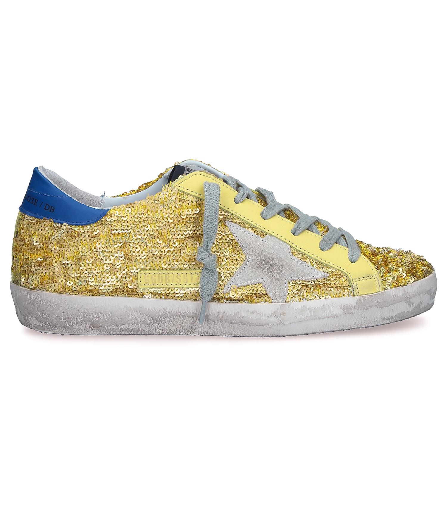design de qualité d7e5c e3535 Sneakers Superstar Lemon Paillettes-Ice Golden Goose - Jane de Boy