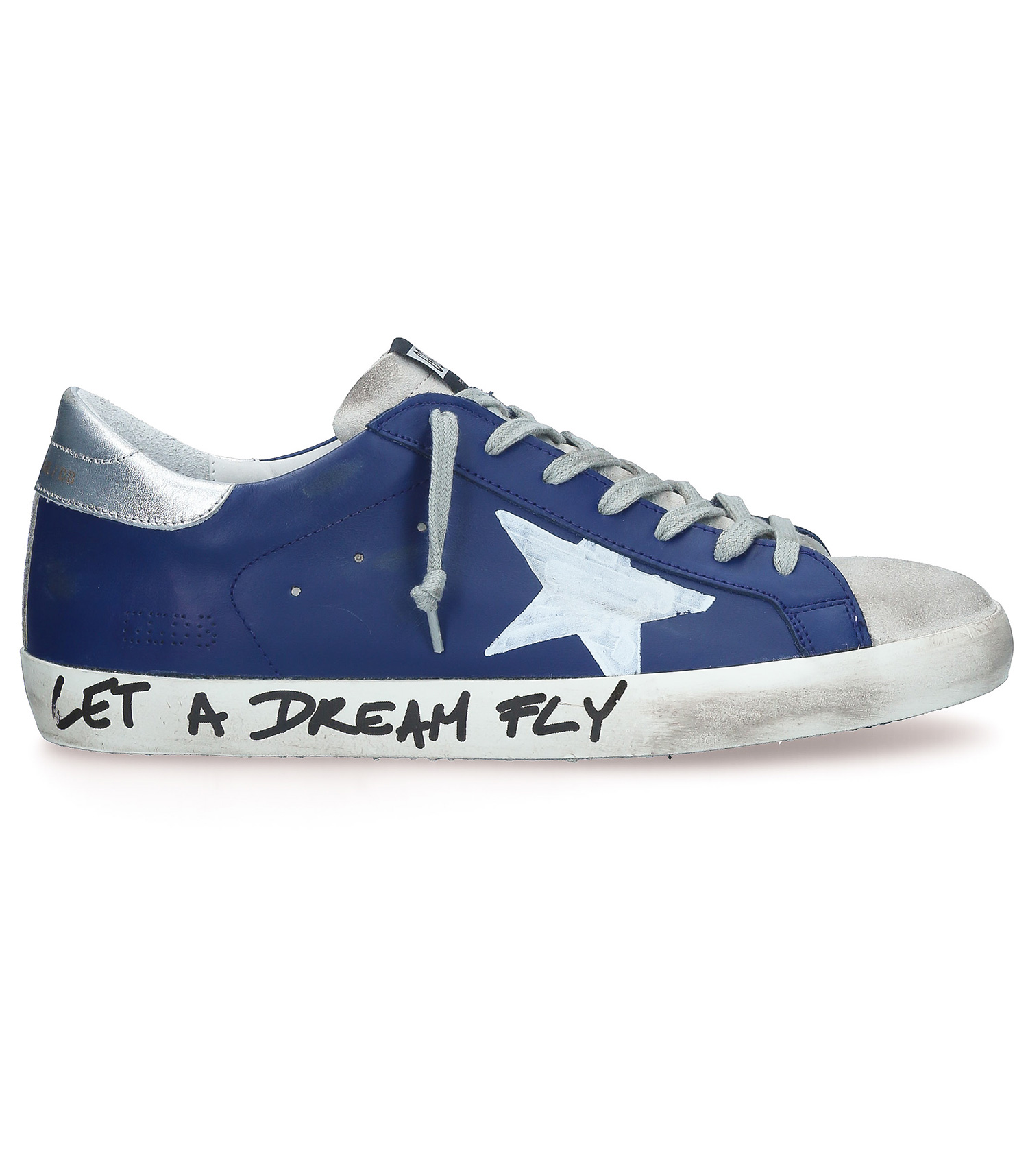 livraison gratuite 0413f 50280 Sneakers Superstar Homme bleu marine à message Golden Goose - Jane de Boy